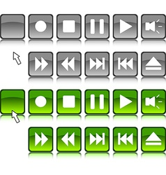 Media buttons vector