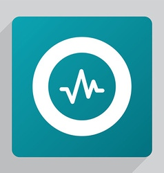 Flat pulse icon vector