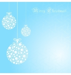 Abstract christmas ball cutted from paper vector