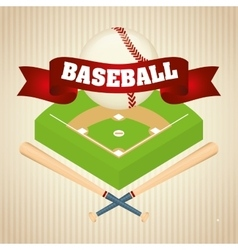 Baseball sport game vector