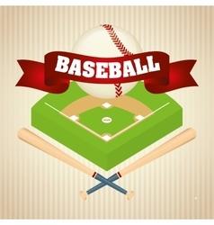 Baseball sport game vector image