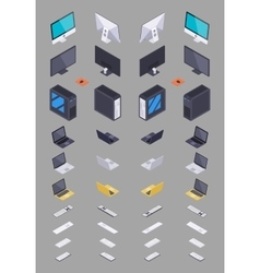 Collection of the isometric electronic hardware vector