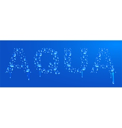 Aqua water drops vector