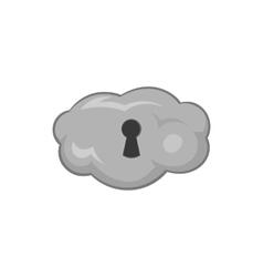Cloud storage icon black monochrome style vector