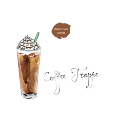 Coffee frappe vector