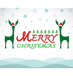 Deer merry christmas vector image vector image