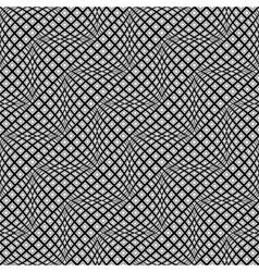 Design seamless monochrome warped zigzag pattern vector