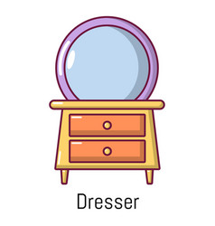 Dresser icon cartoon style vector