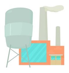 Factory icon cartoon style vector