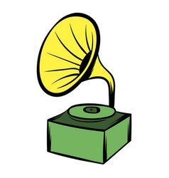 Gramophone icon cartoon vector
