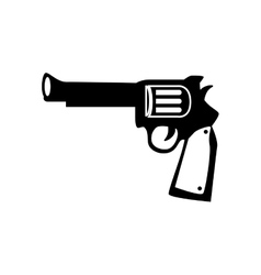 gun weapon west antique icon graphic vector image