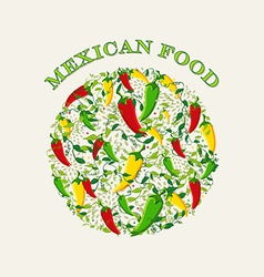 Mexican food concept background vector