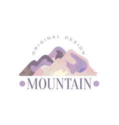 mountain original design logo template tourism vector image
