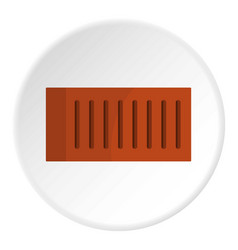 Orange brick icon circle vector