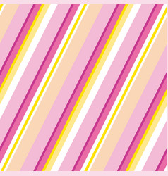 Pink and yellow stripe classic motif vector