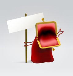 Red angry empty purse vector image