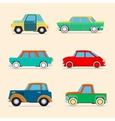 Retro cars set vector image