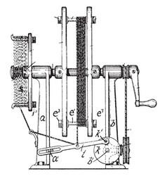 Rewinding cord machine vintage vector