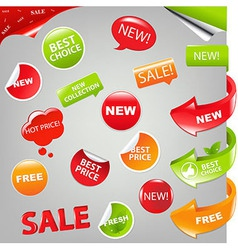 Sale Set vector image vector image