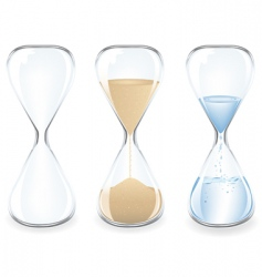 sand clocks vector image