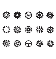 silhouetted of Machine Gear vector image vector image