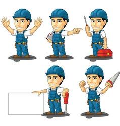 Technician or repairman mascot 2 vector