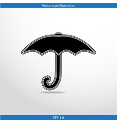 umbrella web icon vector image vector image