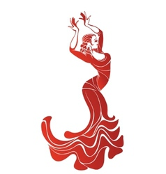 Young passionate woman dancing flamenco vector