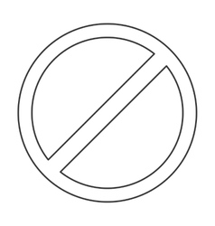 Restriction sign icon vector