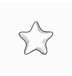 Rating star sketch icon vector