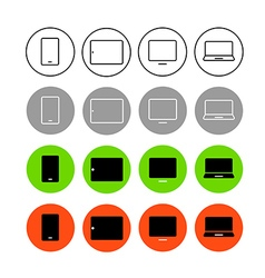 Different style trendy interface icons set vector