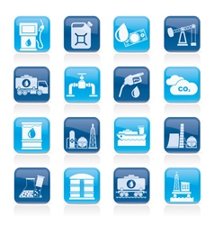 Oil and petrol industry icons vector