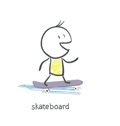 Man on skateboard vector