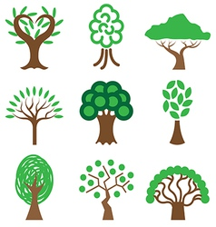 Logo icons tree vector