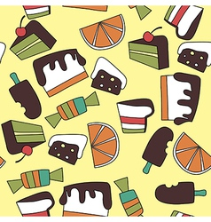 Pattern of candy vector image