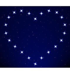 Heart constellation vector