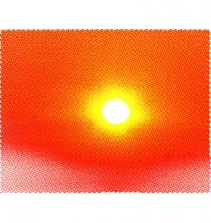 sun halftone background vector image