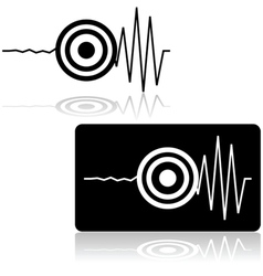 Earthquake icon vector