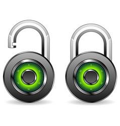 round padlocks vector image