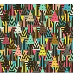 Geometric pattern with triangles vector