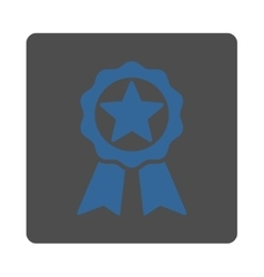 Award icon from award buttons overcolor set vector