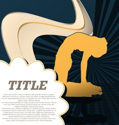 Sport template poster yoga vector