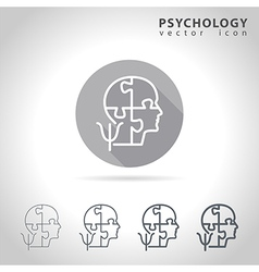 Psychology outline icon vector