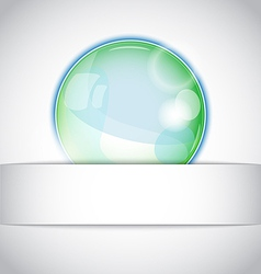 Magic ball background vector