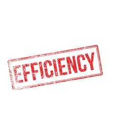 Efficiency red rubber stamp on white vector