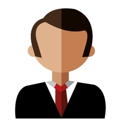 Cartoon avatar man front view graphic vector