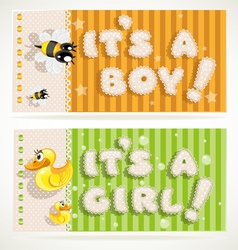 Its a boy and its a girl banners 2 vector