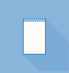 Blank line notebook paper icon template vector