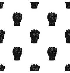 Boxing fist icon in black style isolated on white vector
