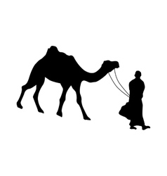 Camel silhouette black vector